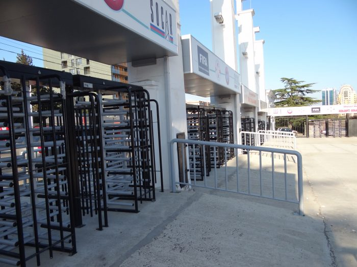 Turnstile Installation on Mikheil Meskhi Stadium